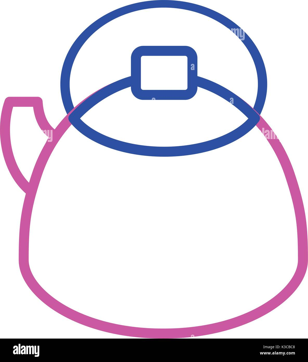 silhouette teapot kitchen utensil object to cuisine - Stock Vector