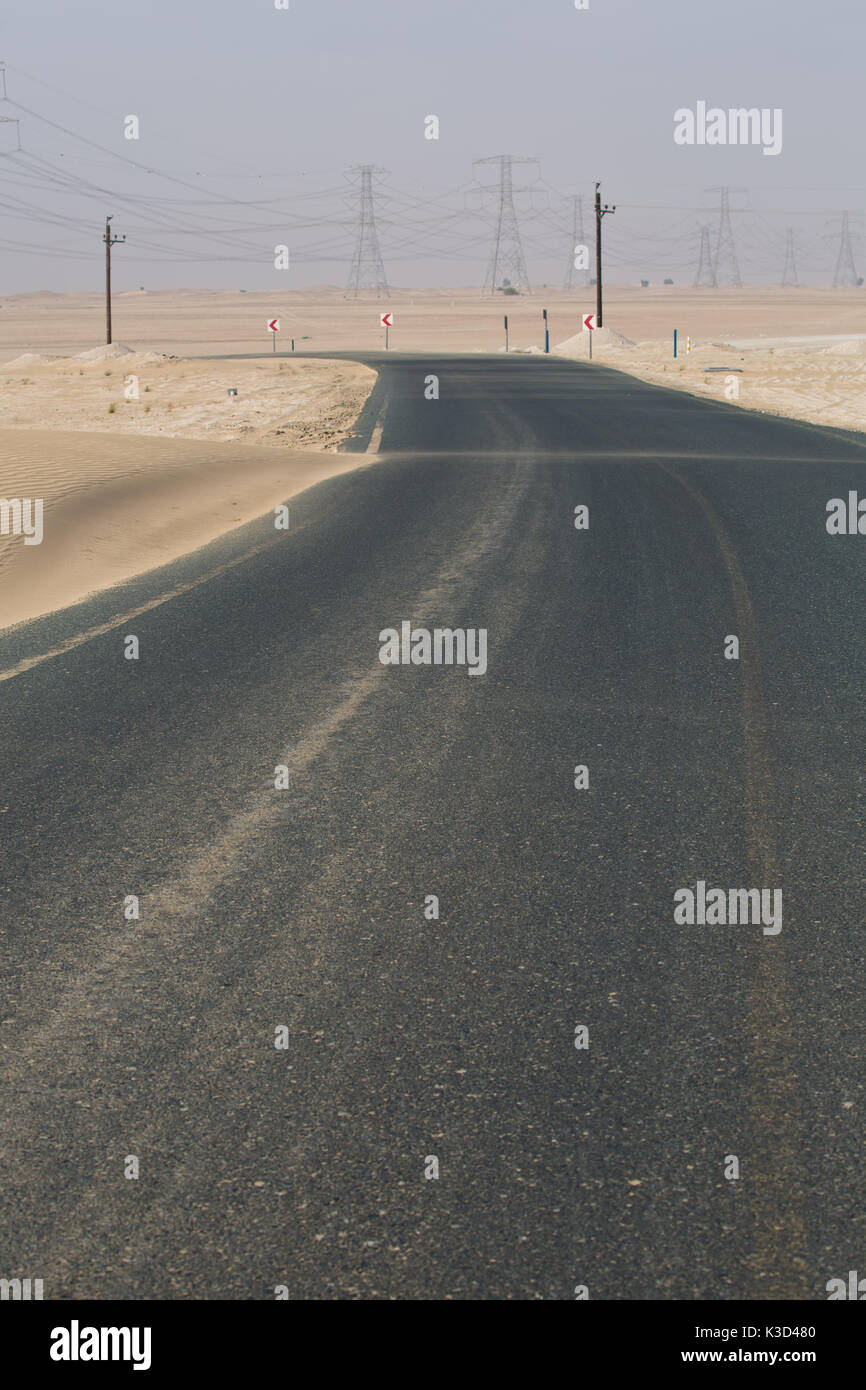 Lonely desert road - Stock Image