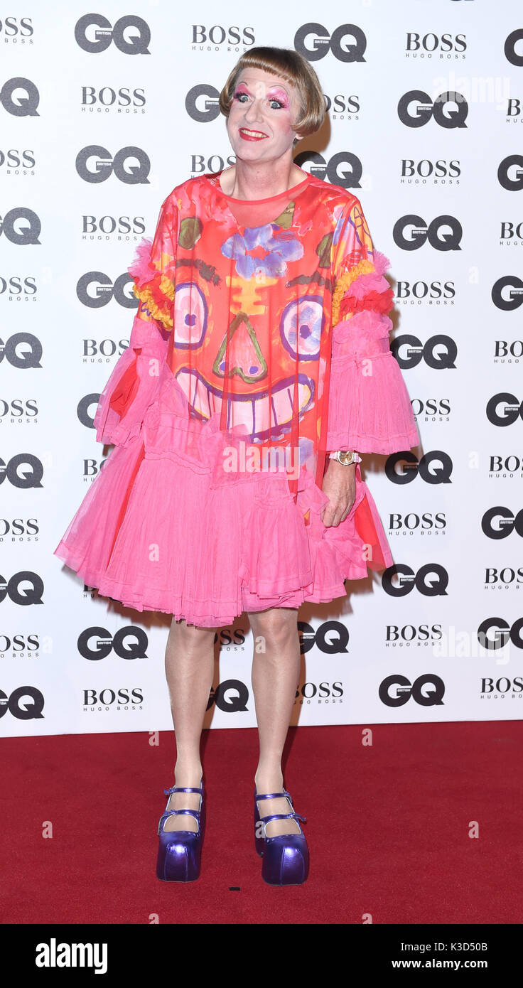 Photo Must Be Credited ©Alpha Press 079965 06/09/2016 Grayson Perry GQ Men Of The Year Awards 2016 Tate Modern London Stock Photo