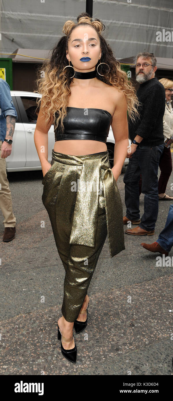 Photo Must Be Credited ©Alpha Press 078237 18/09/2016 Ella Eyre at Topshop Unique Fashion Show  during London Fashion Stock Photo