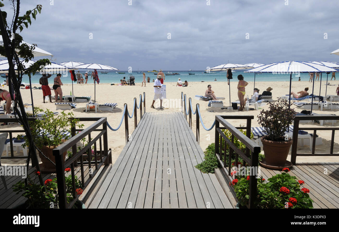 Santa Maria Beach, island Sal, Cape Verde islands, Stock Photo
