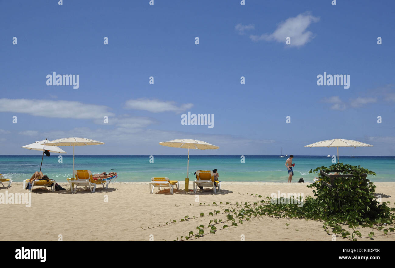 Santa Maria Beach, island Sal, Cape Verde islands, Stock Photo