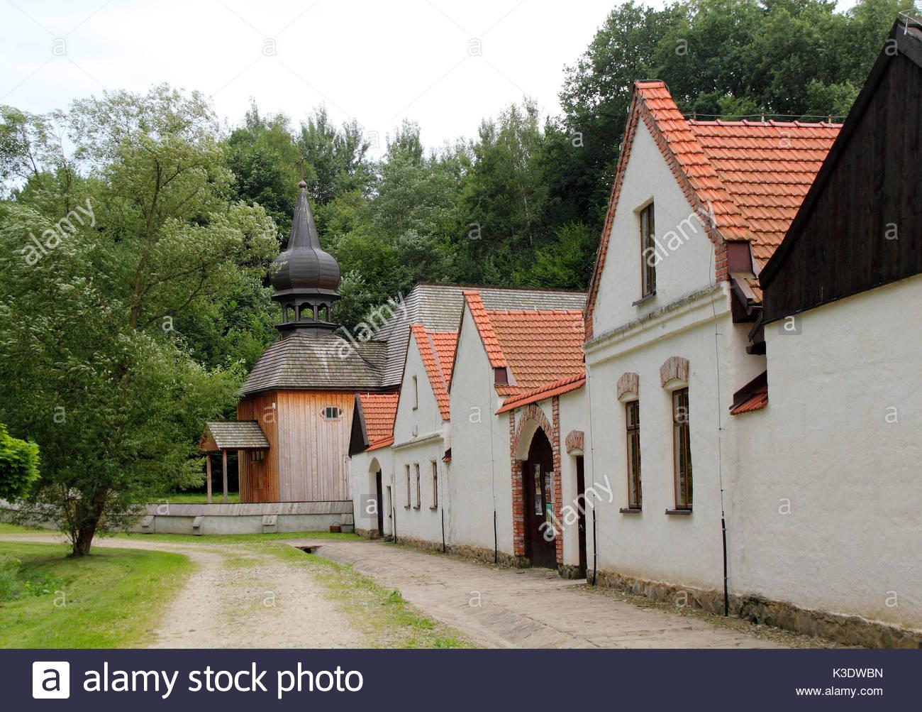 Ethnography museum, Nowy Sacz, Poland, - Stock Image