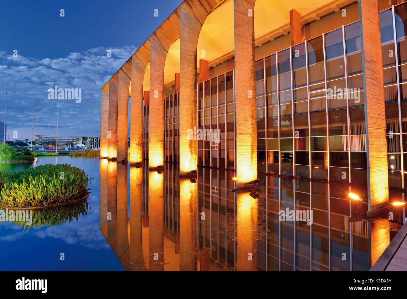 Brazil, Brazil, side glance on the Itamaraty palace of Oscar Niemeyer, - Stock Image