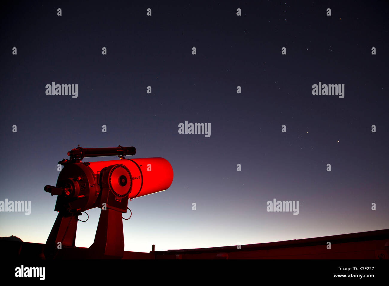 Chile, Vicuna, observatory of Observatorio El Pangue, Stock Photo