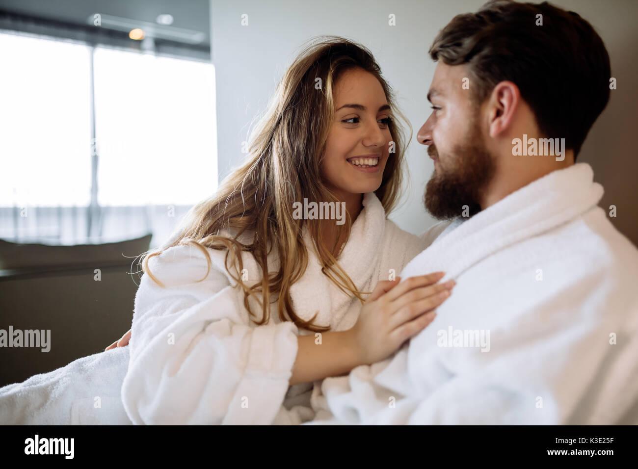 Romantic Couple Enjoying Honeymoon