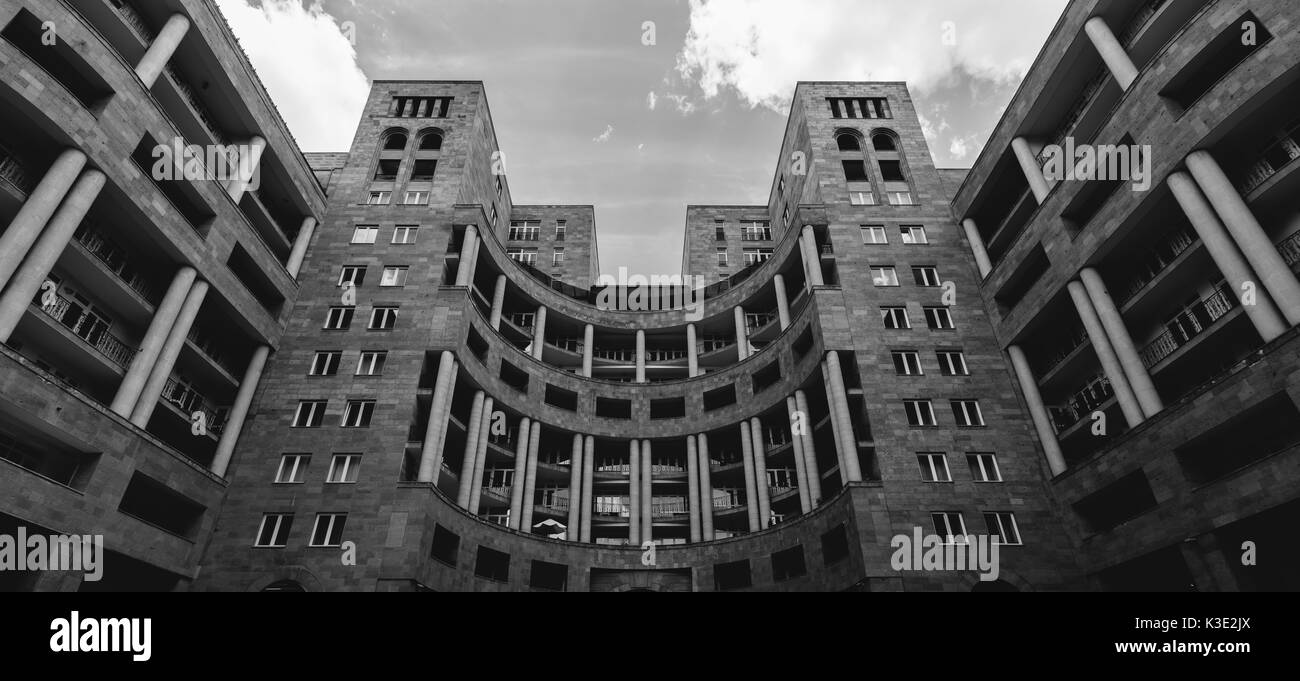 Modern architecture of Yerevan, Armenia - Stock Image