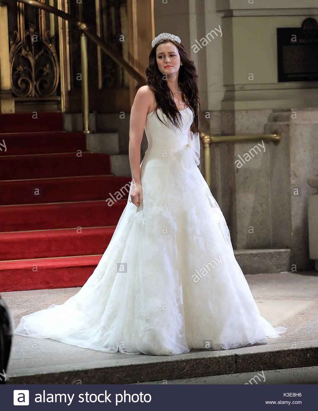Leighton Meester. Leighton Meester wears a beautiful wedding dress ...