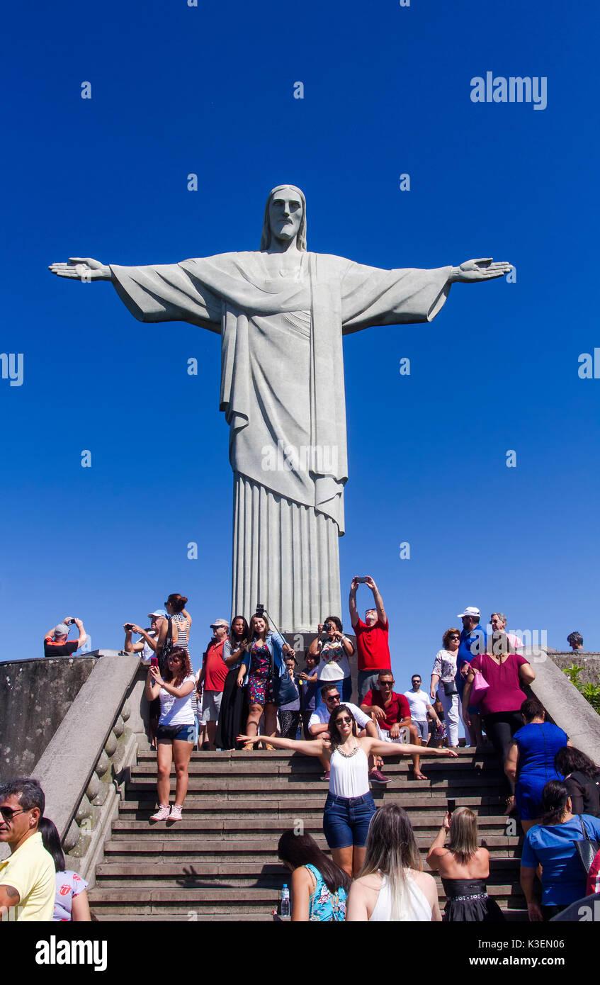 Christ Redeemer - Rio de Janeiro Stock Photo