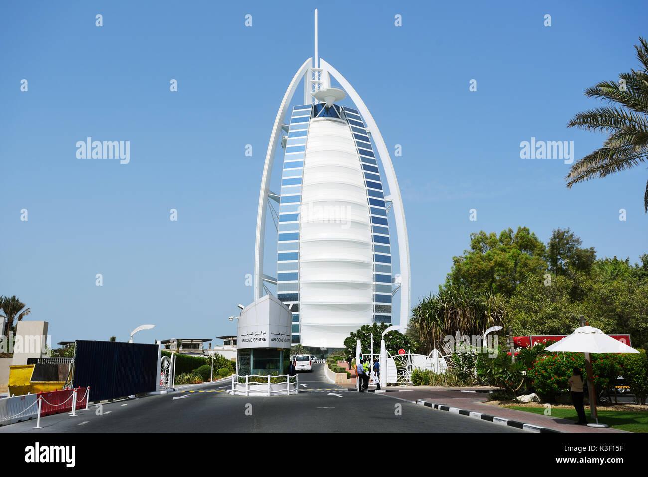 The Burj al Arab Hotel in Dubai - Stock Image