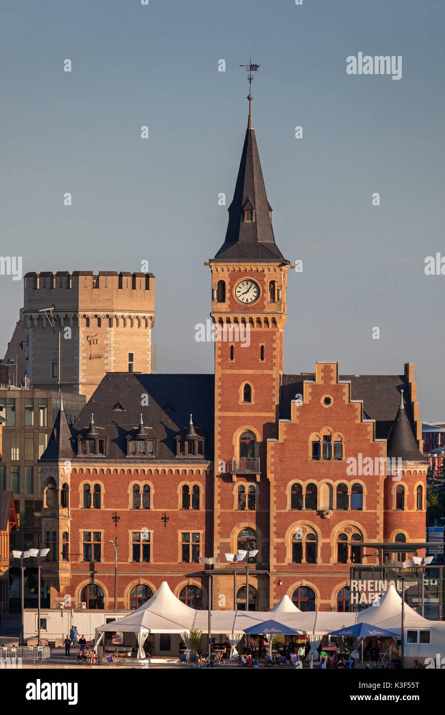 Old port authority and Bavarian's tower, Cologne - Stock Image