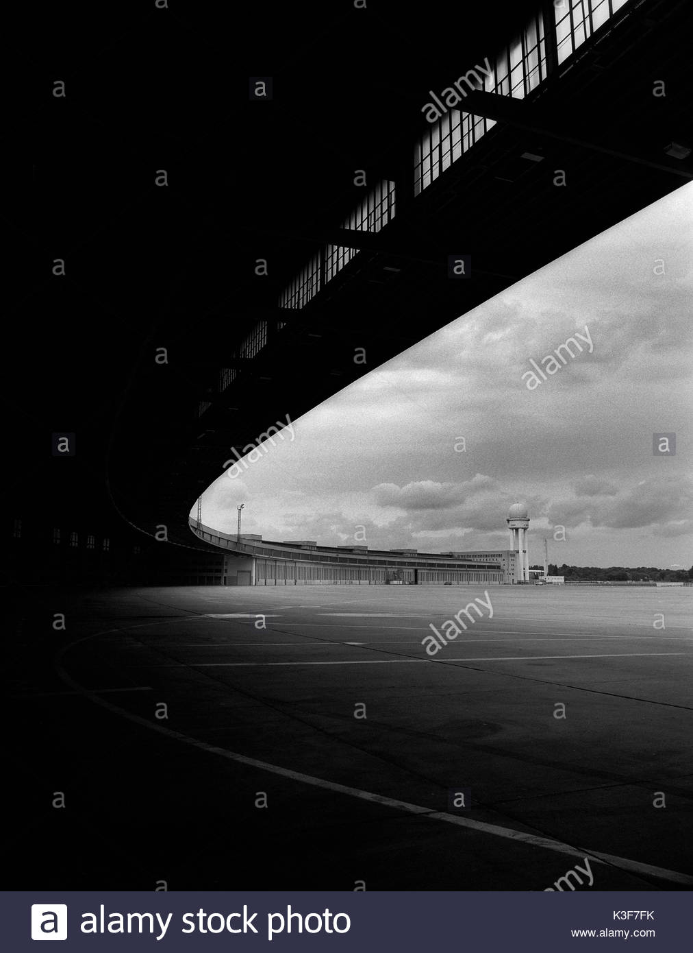 Tempelhof Airport Exterior, Berlin, Germany - Stock Image