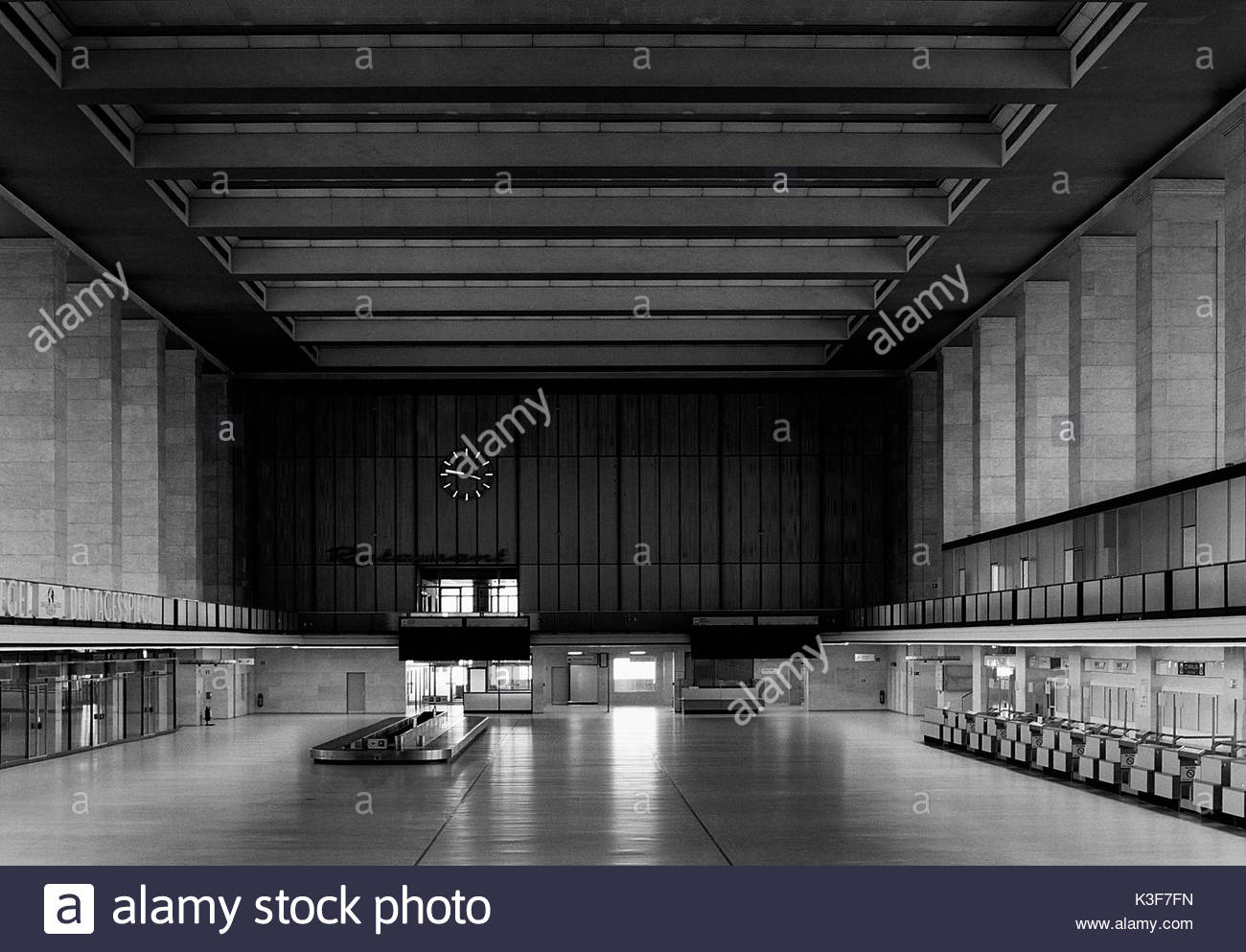 Lobby, Tempelhof Airport, Berlin, Germany - Stock Image