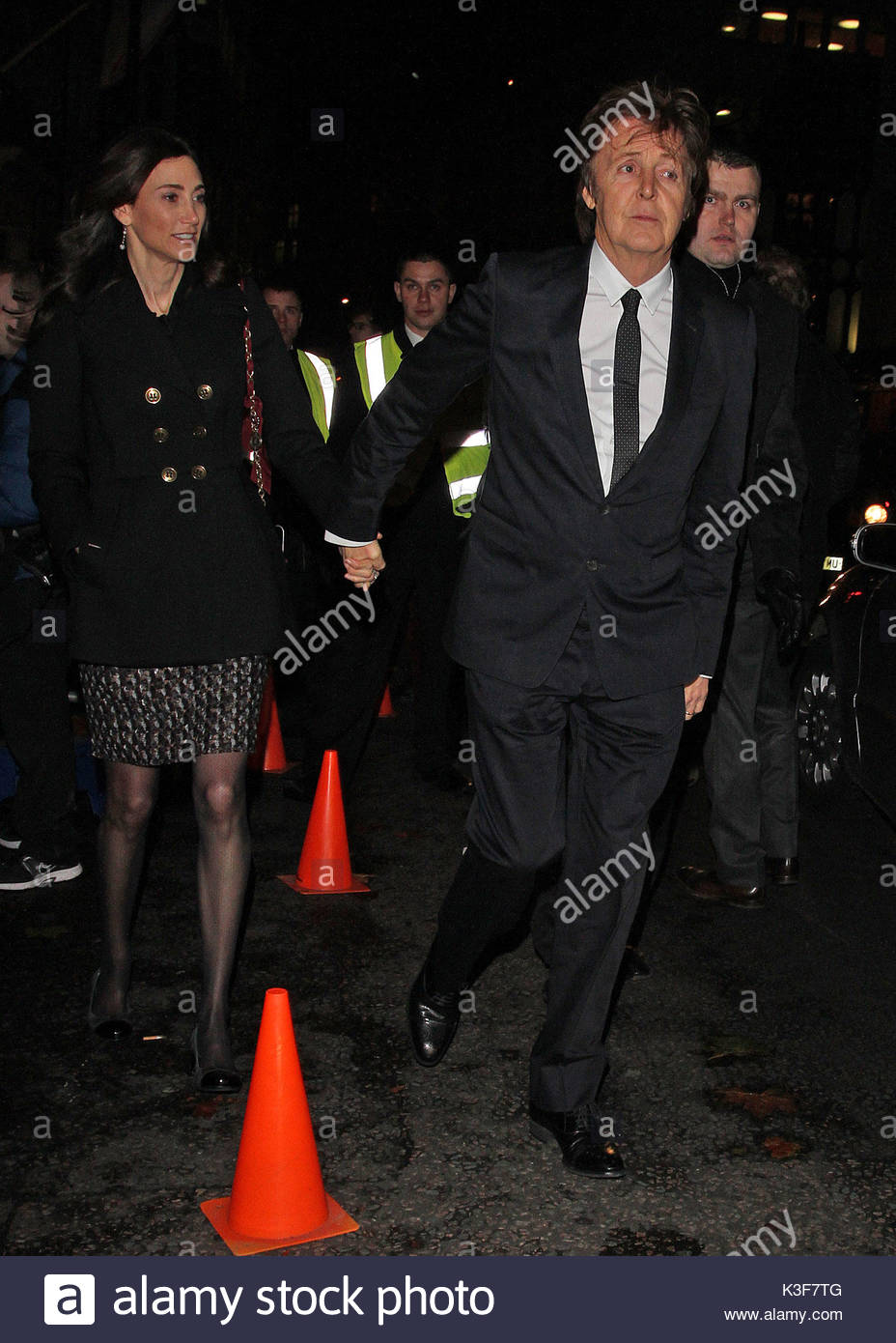 Paul McCartney And Nancy Shevell Celebrities Attending Stella McCartneys Store Christmas Lights Switch On In London UK