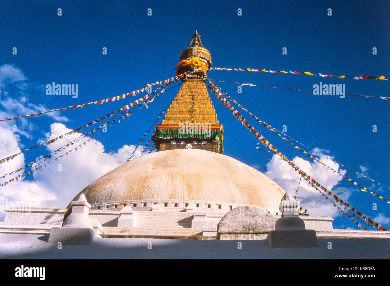 Bodhnath Stupa Katmandu, Nepal - Stock Image