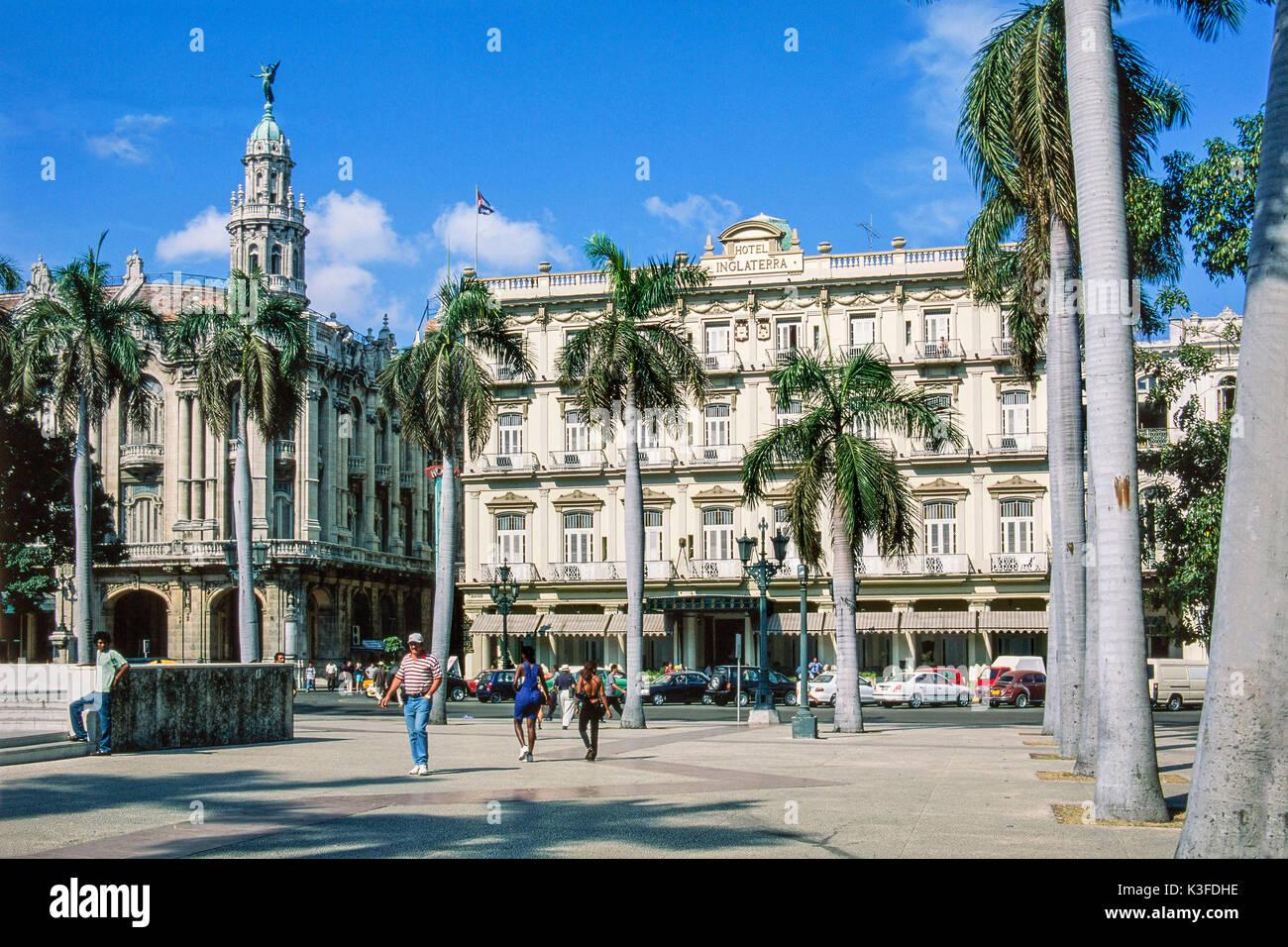 Hotel of Inglaterra at the centre of Havana, Cuba - Stock Image