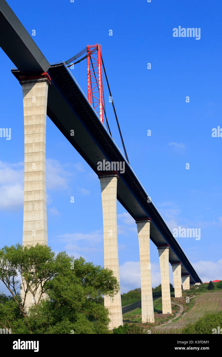 High Moselle Bridge, controversial flyover bridge under construction - Stock Image
