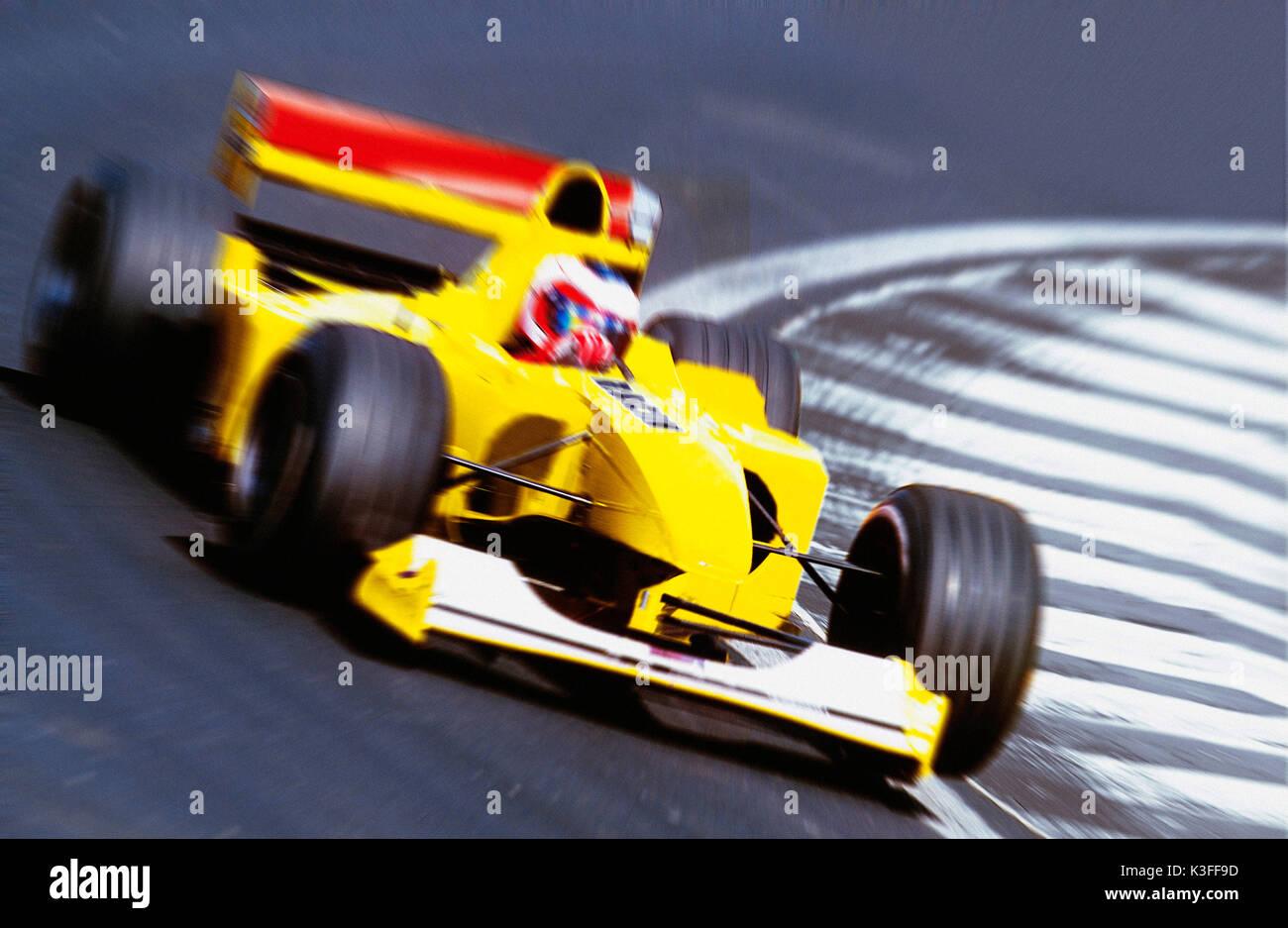 Formula one car racing - Stock Image