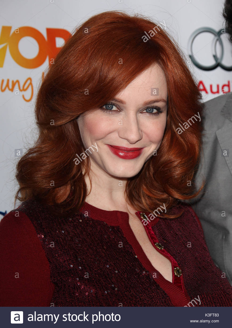 Christina Hendricks. Trevor Live at the Hollywood Palladium. - Stock Image