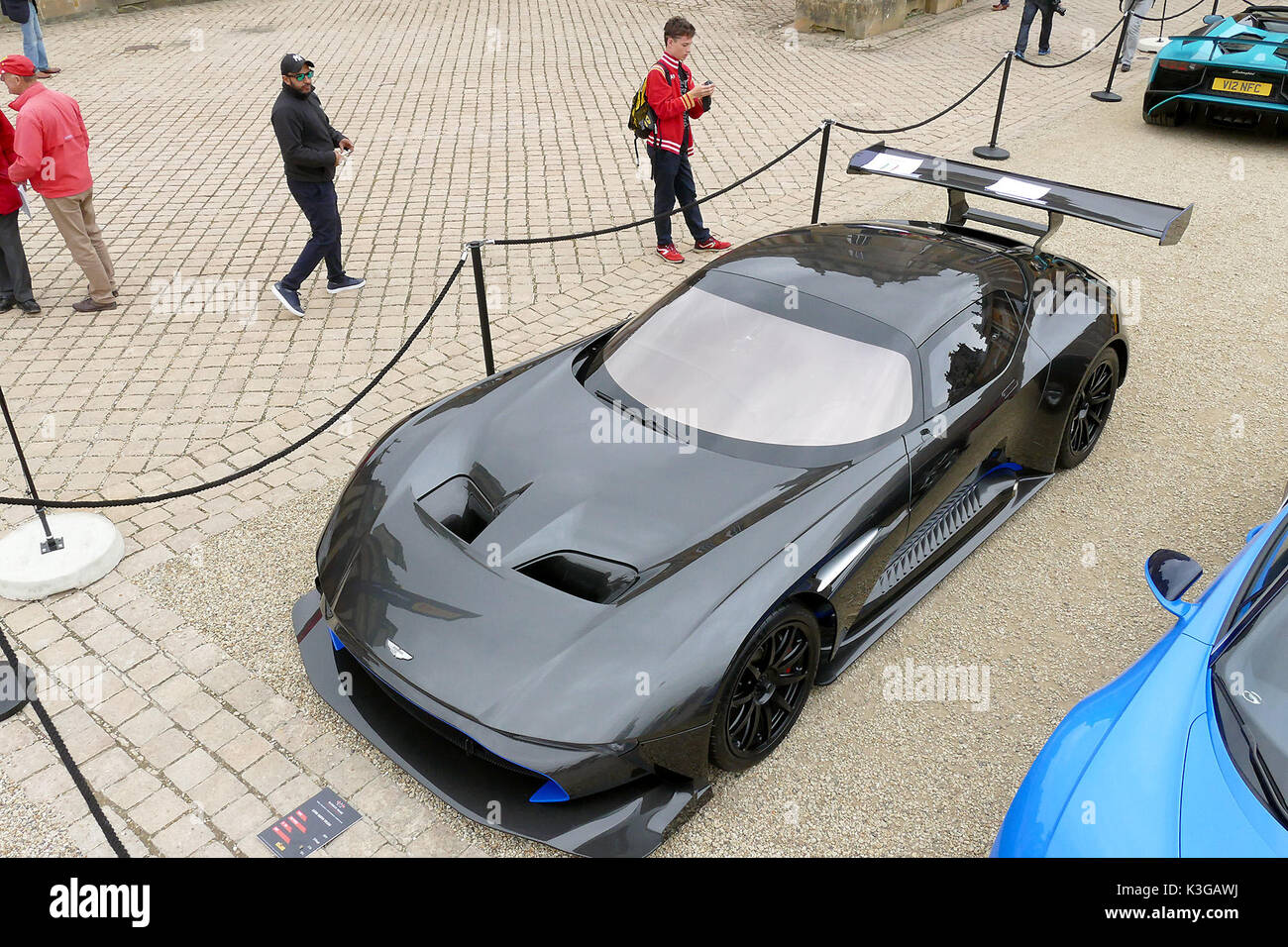 Blenheim Palace, Woodstock, Oxfordshire, UK. 03rd Sep, 2017. A £2m Aston Martin Vulcan leads the display of supercars on show at Blenheim Palace in Oxfordshire Picture: Ric Mellis 3/9/2017 Blenheim Palace, Woodstock, Oxfordshire Credit: Ric Mellis/Alamy Live News - Stock Image