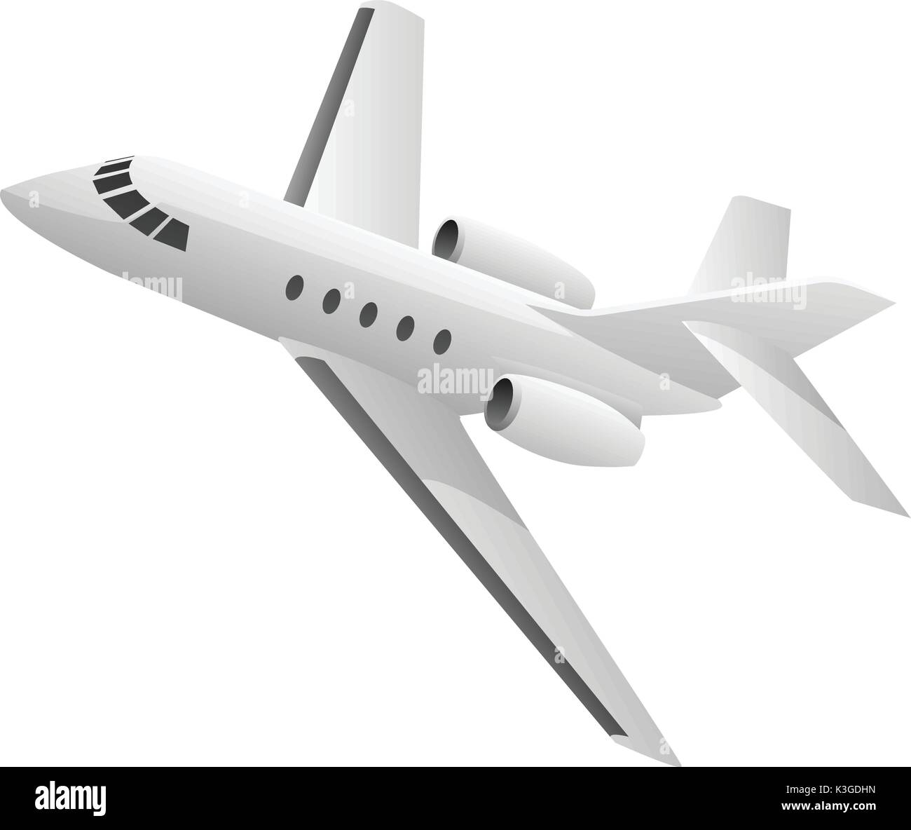 Business Jet Airplane Illustration - Stock Image