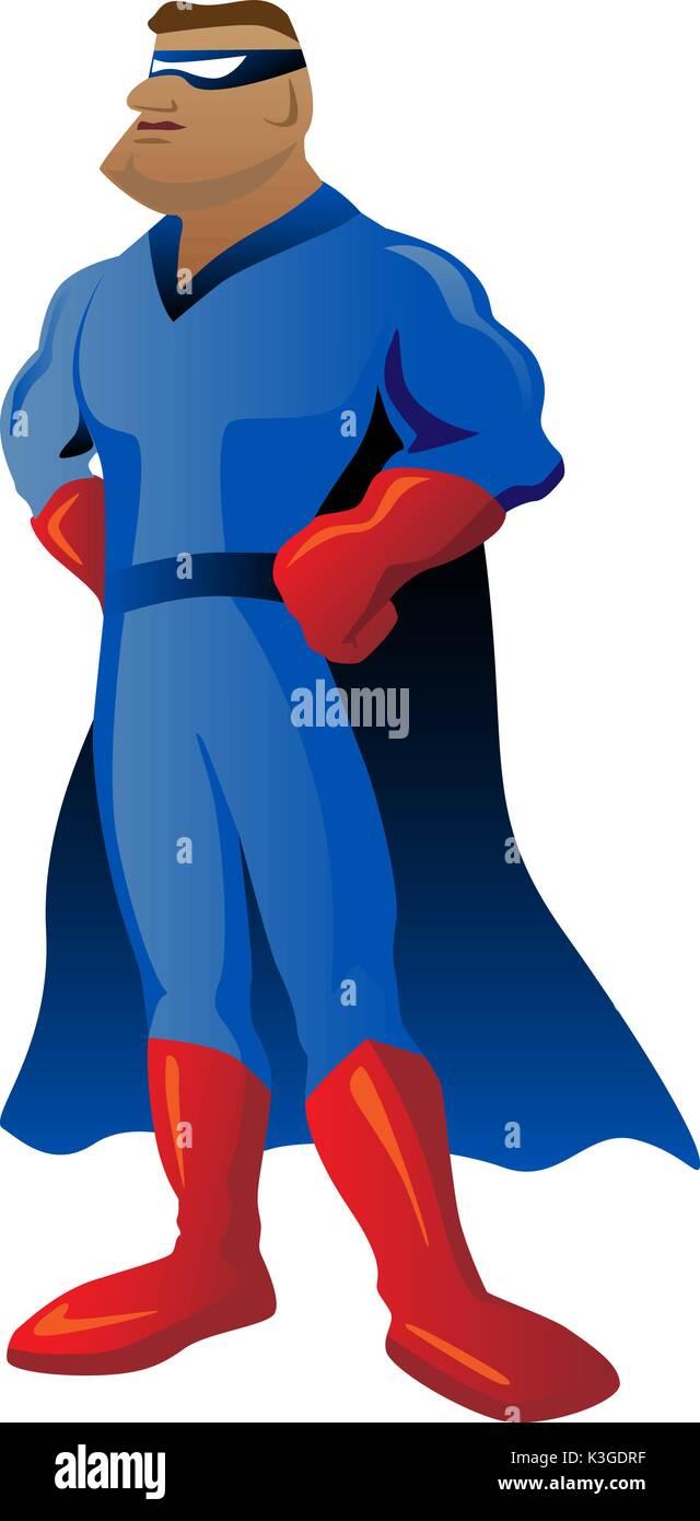 Super Hero Cartoon Character Illustration - Stock Vector