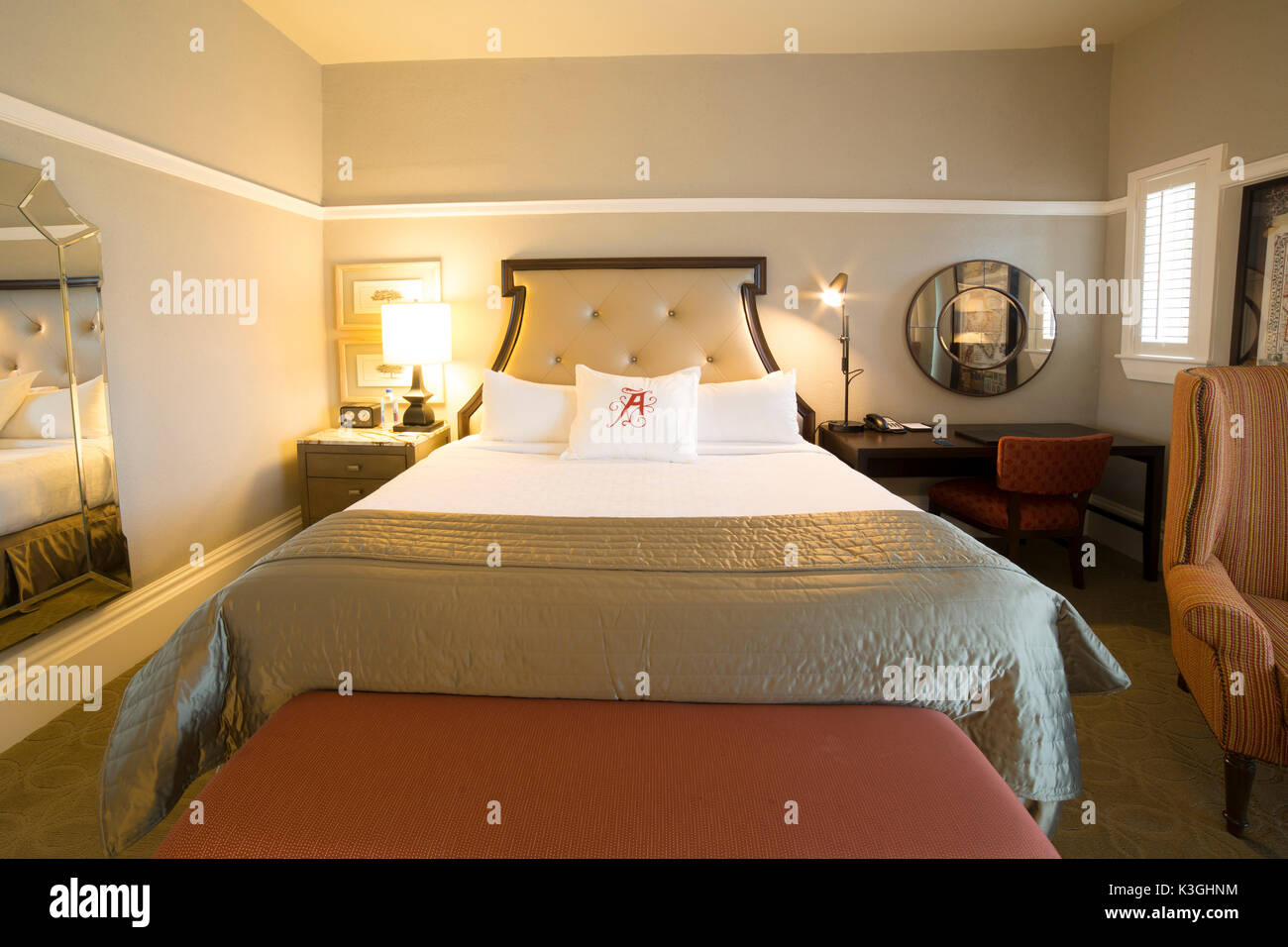 Guestroom at the Algonquin Resort in St Andrews, New Brunswick, Canada. - Stock Image