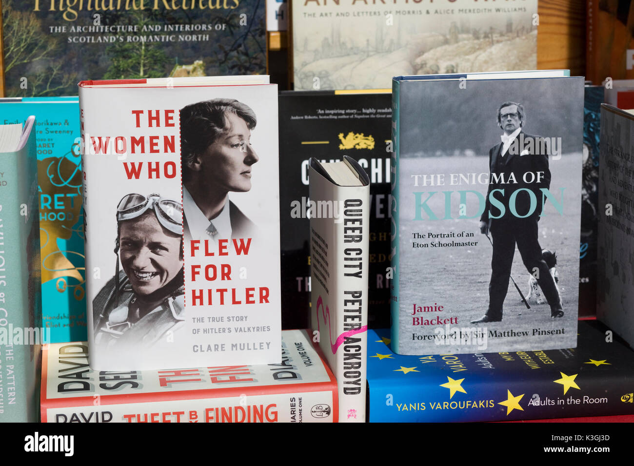 Books shop window - Stock Image