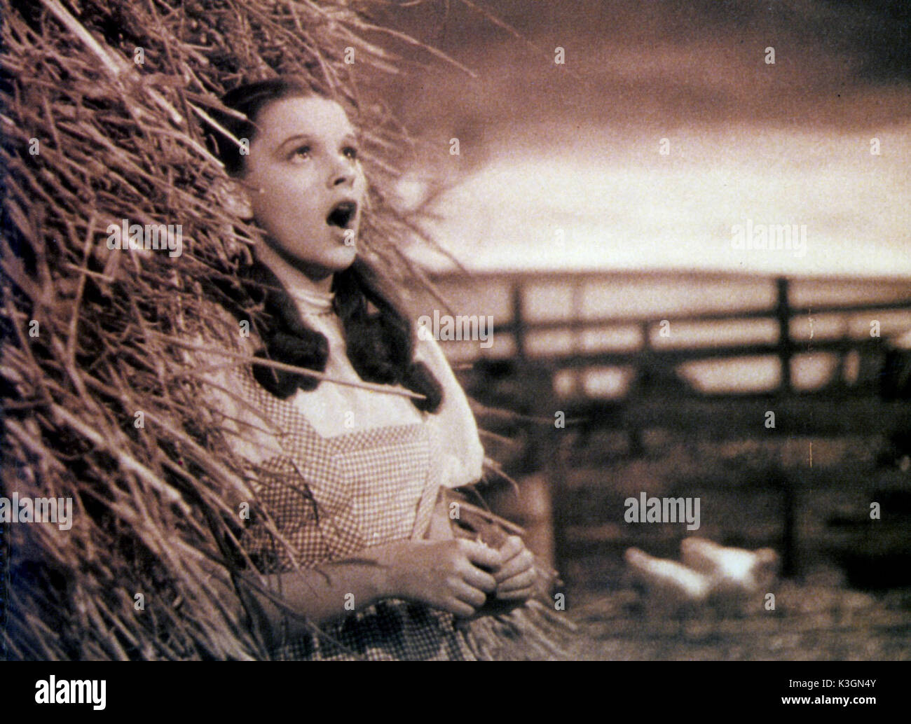 The Wizard Of Oz Us 1939 Judy Garland Singing Somewhere Over The