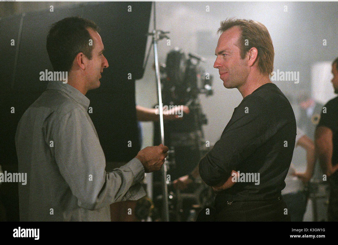 V For Vendetta Director James Mcteigue And Hugo Weaving Date Stock Photo Alamy
