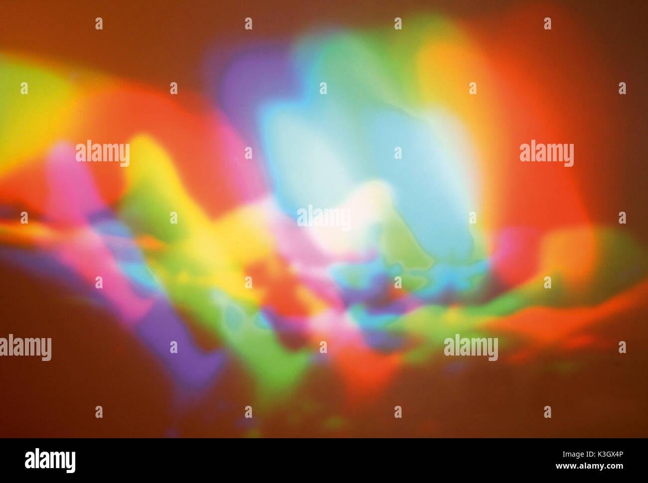 Coloured lighting effect Stock Photo