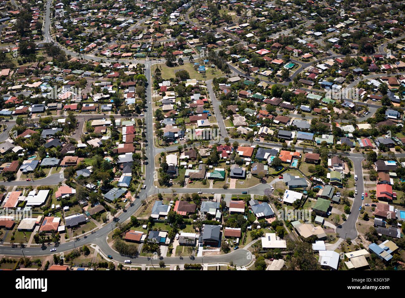Aerial View of Alexandra Hills, Brisbane, Australia - Stock Image