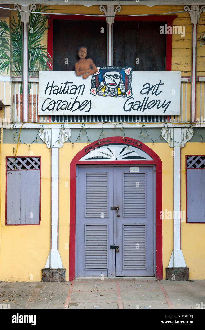 The Dominican Republic, peninsula Samana, Las Terrenas, Haitian kind of Gallery - Stock Image