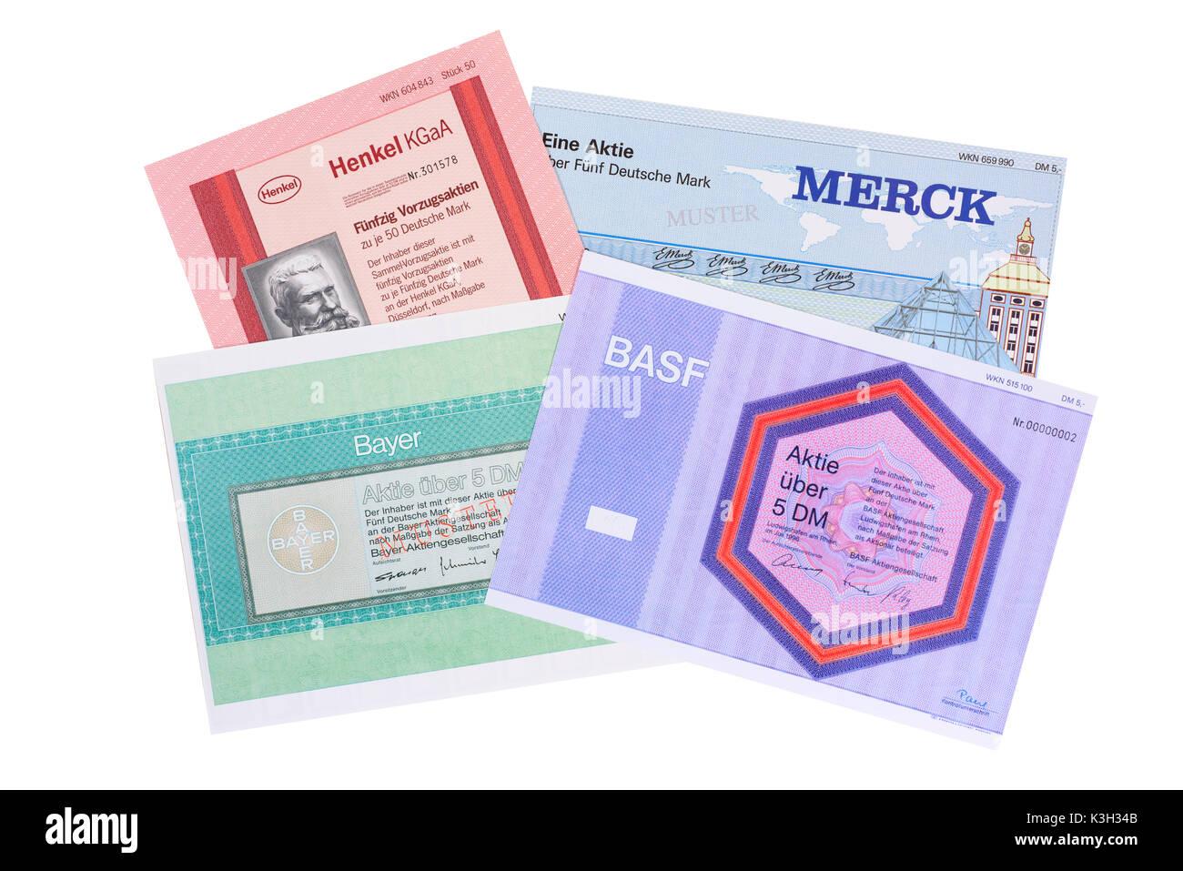 Stocks of the companys Henkel, Merck, Bayer, BASF Stock
