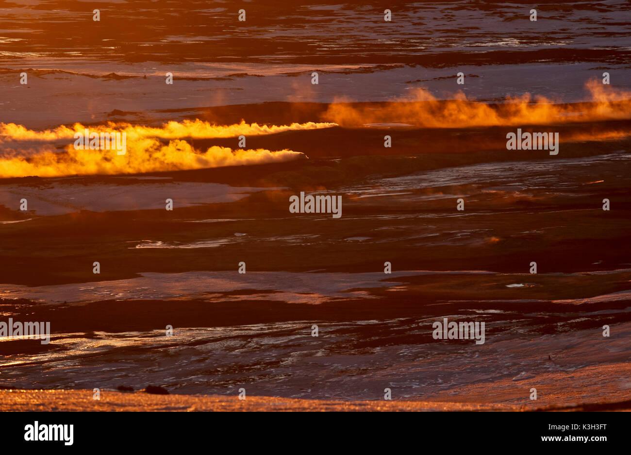 Iceland, north-east, Geothermal area Namafjall, Fumaroles - Stock Image
