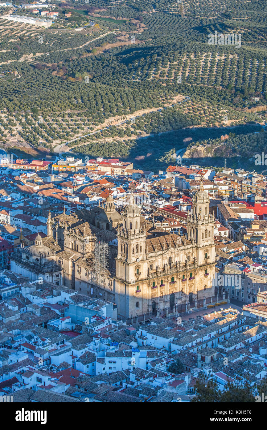 Spain, Andalucia, Jaen City, Jaen Cathedral, - Stock Image