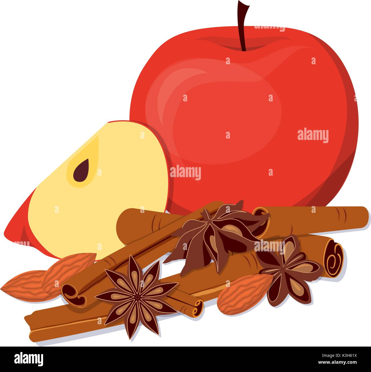 Apple Cinnamon Illustration High Resolution Stock Photography And Images Alamy
