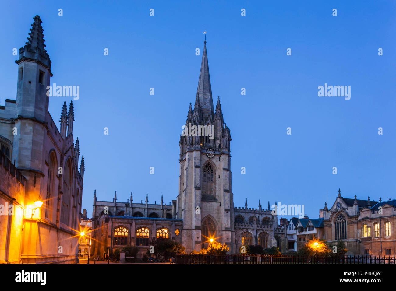 England, Oxfordshire, Oxford, The University Church of St.Mary The Virgin - Stock Image