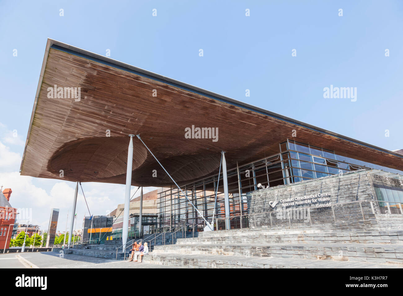 Wales, Cardiff, Cardiff Bay, National Assembly for Wales Building - Stock Image