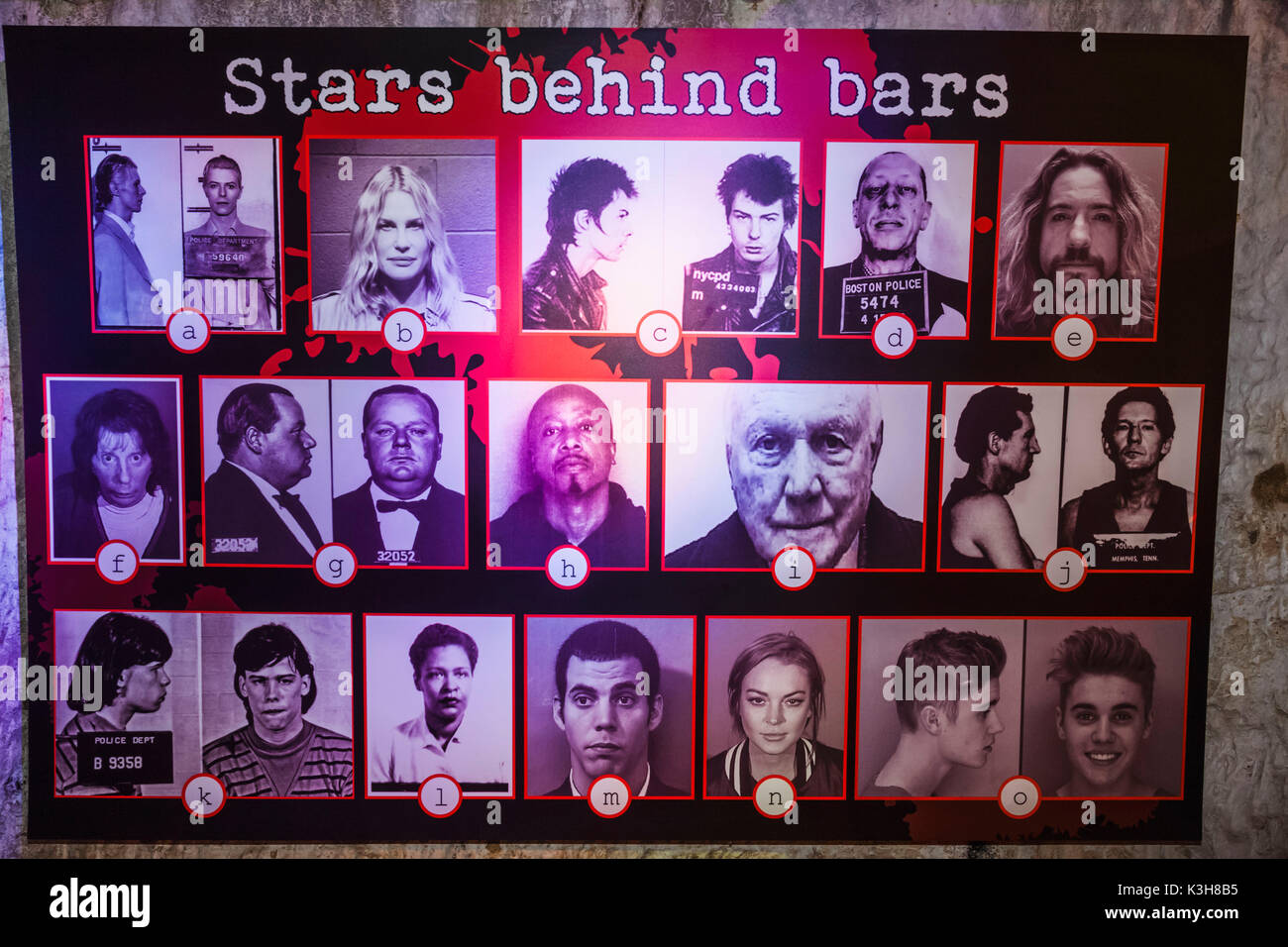 England, East Sussex, Hastings, The True Crime Museum, Exhibit of Police Files of Arrested Well Known Personalities - Stock Image