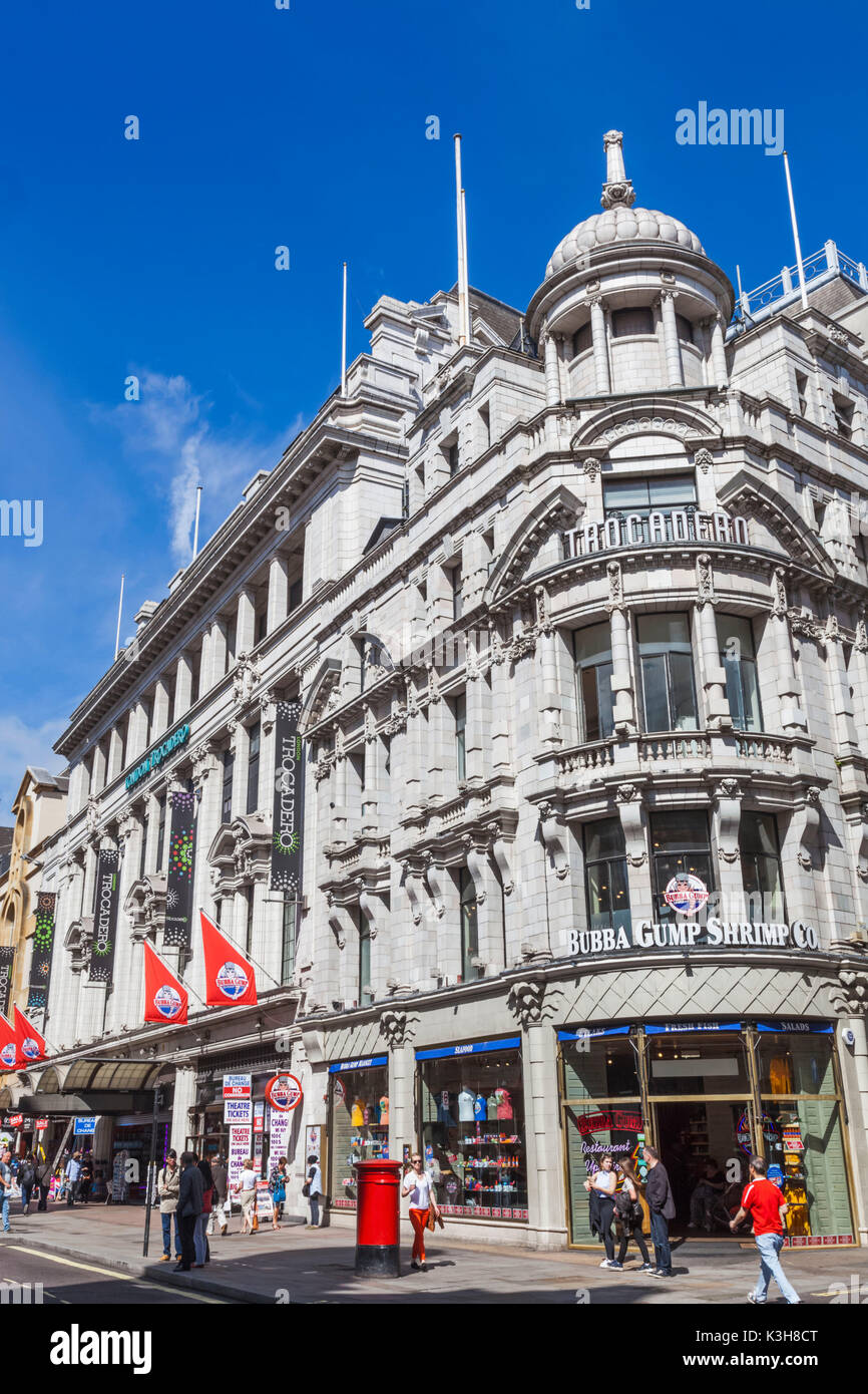 England, London, Leicester Square, Trocodero Building - Stock Image