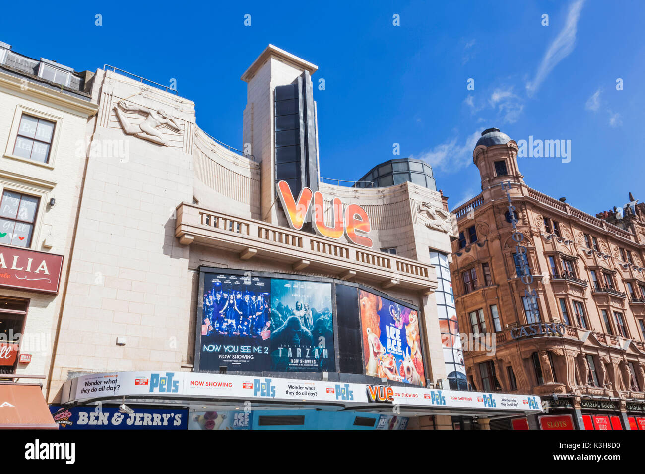 England, London, Leicester Square, Vue Cinema - Stock Image