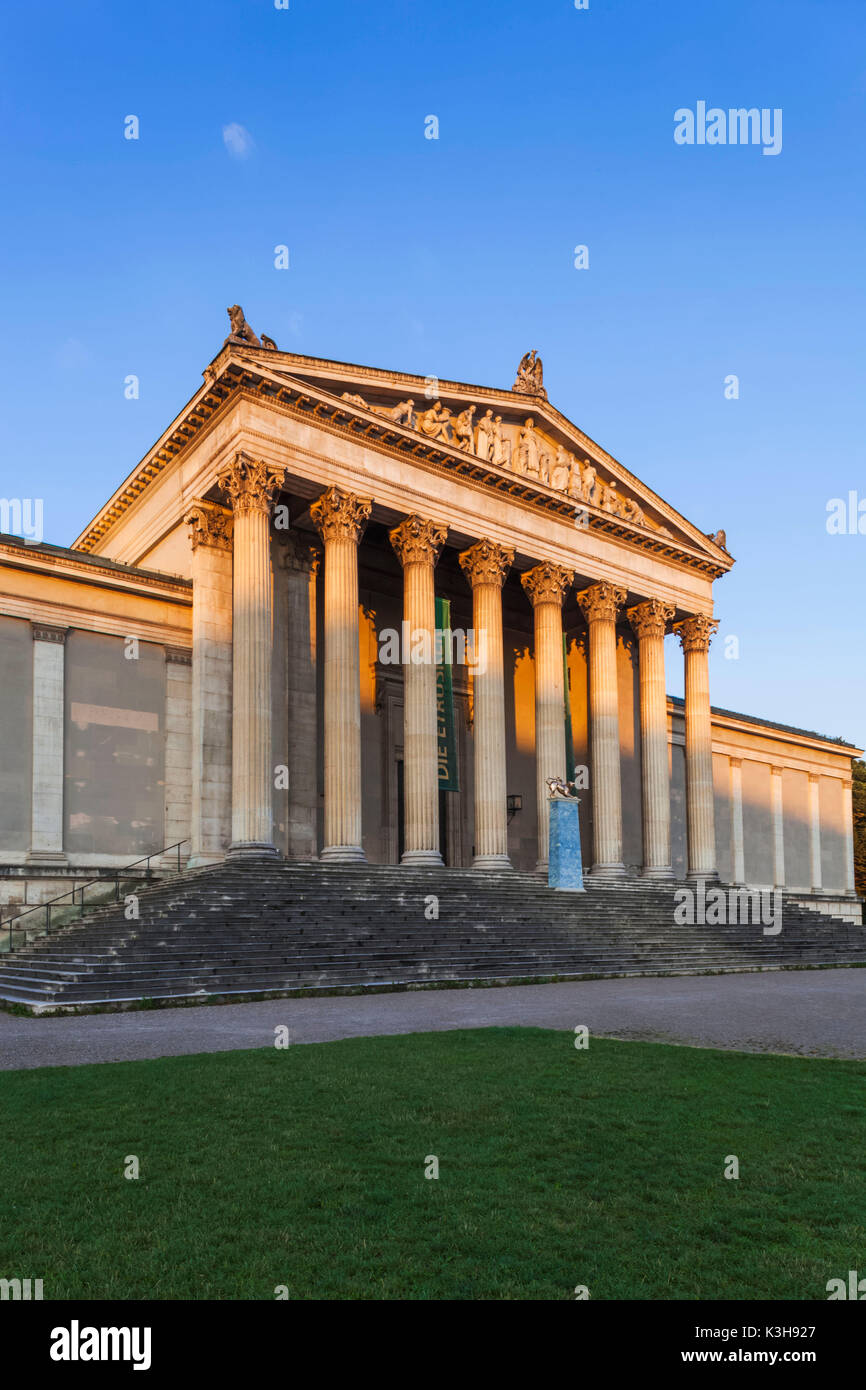 Germany, Bavaria, Munich, Glyptothek and State Collections of Antiquities Museum - Stock Image