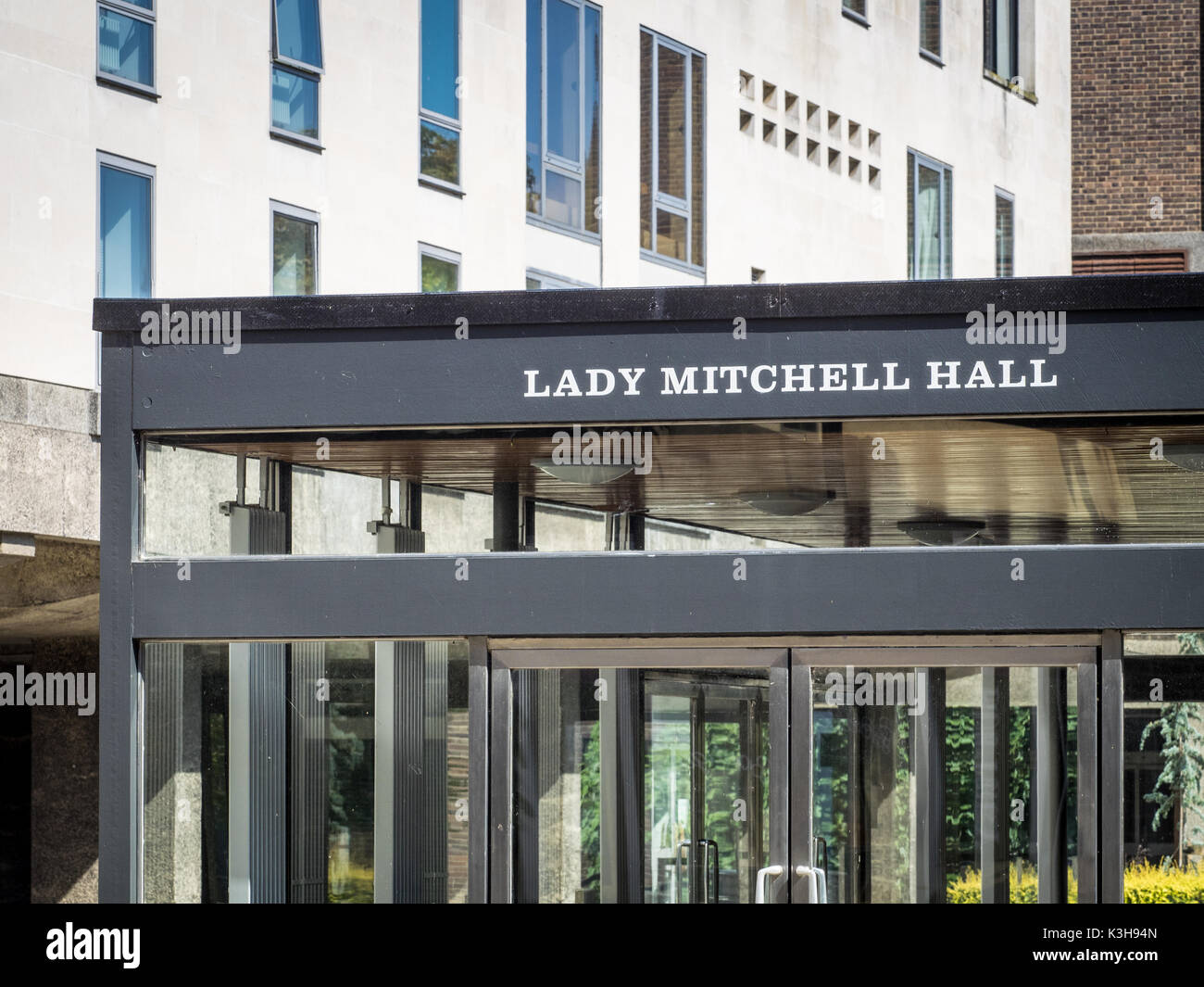 Lady Mitchell Hall University of Cambridge - a large lecture theatre on the Sidgwick Site of the University. - Stock Image