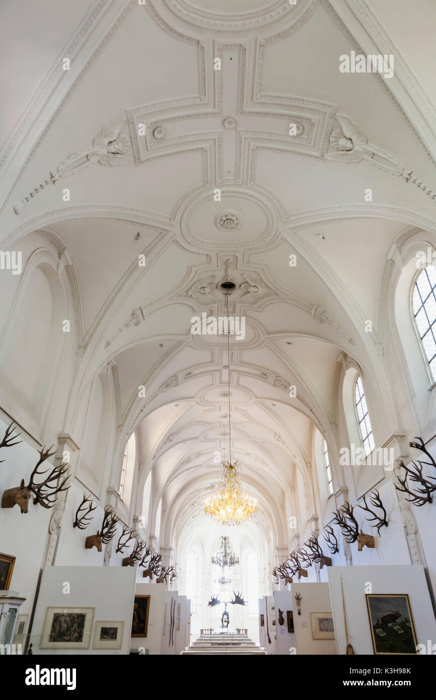 Germany, Bavaria, Munich, The German Hunting and Fishing Museum (Deutsches Jagd-Und Fischereimuseum) - Stock Image