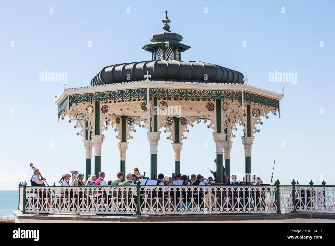 England, East Sussex, Brighton, Seafront Bandstand - Stock Image