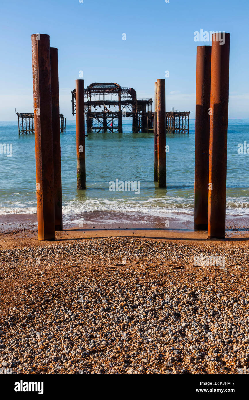 England, East Sussex, Brighton, West Pier - Stock Image