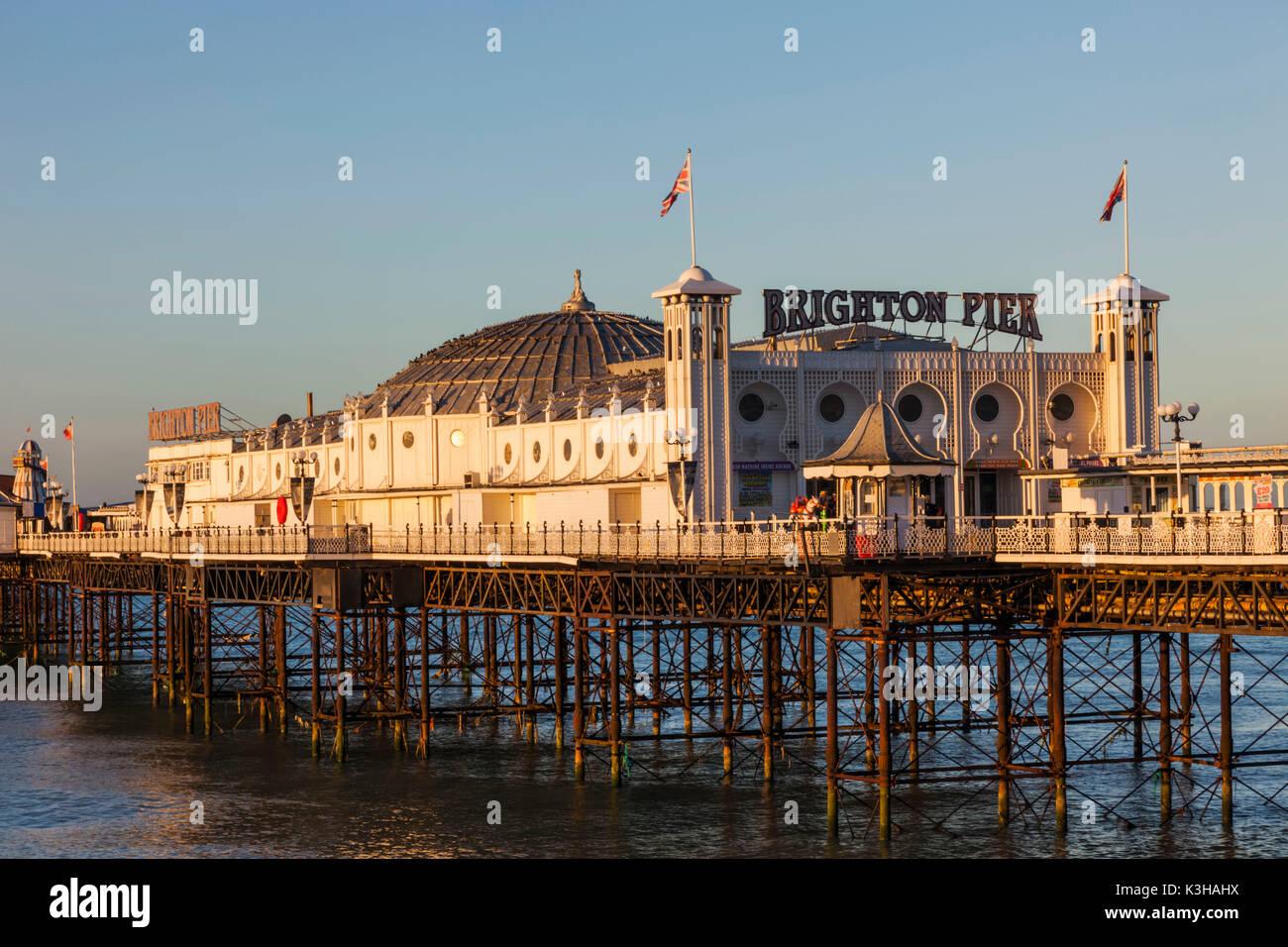 England, East Sussex, Brighton, Brighton Pier - Stock Image