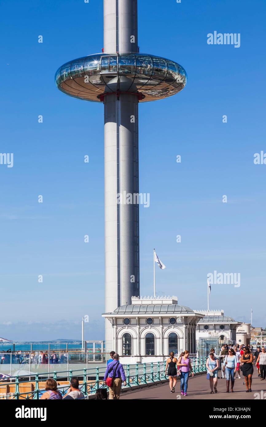 England, East Sussex, Brighton, British Airways i360 Tower - Stock Image