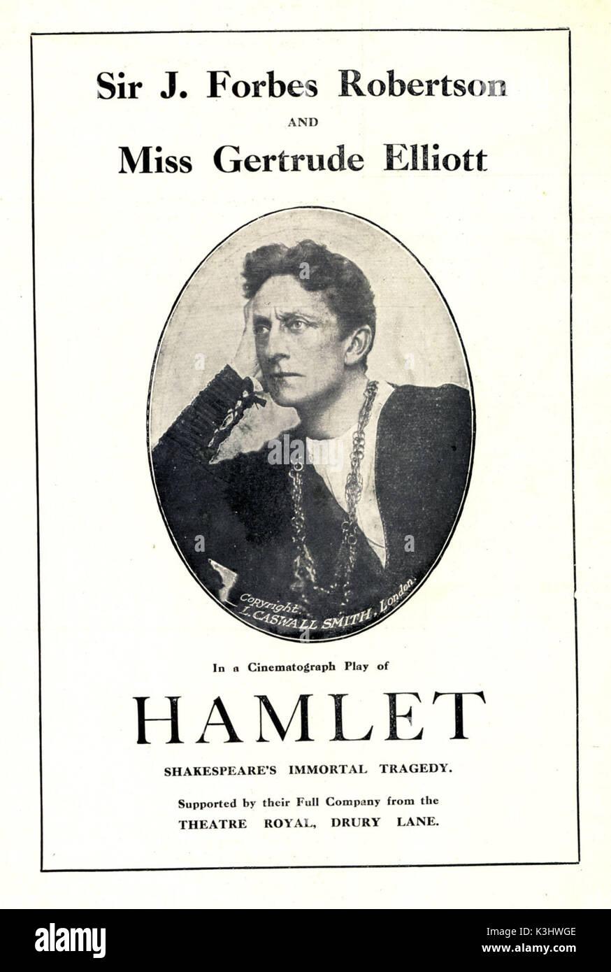 HAMLET SIR JOHNSTON FORBES ROBERTSON     Date: 1913 - Stock Image
